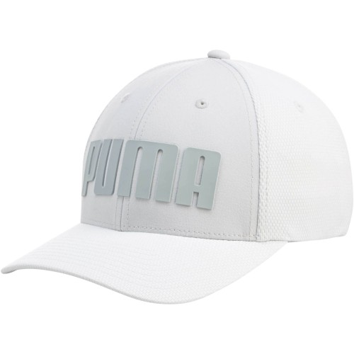 Mono Cubic Trucker Hat Medium White