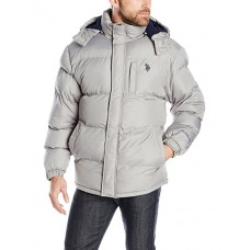 Men's Classic Short Puffer Jacket with Small Logo